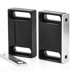 M-FURN-04, Magnetbeschlag breit für Möbel, aus Metall, mit Gegenplatte