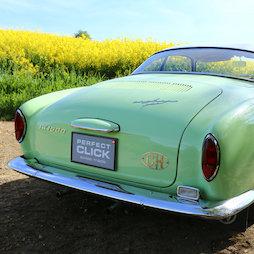 LP-CHCAR2H/aluminium, Wechselnummerhalter 'Perfect Click' Hochformat, magnetischer Nummernschildhalter, für Autos in der Schweiz, 2 Zeilen