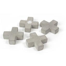 LIV-97/cross, Betonmagneten, kruizen, set van 4