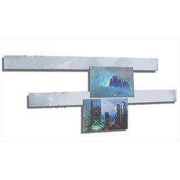 FO-5, Magnetleisten Edelstahl 50 cm, 2er-Set, Haftgrund für Magnete, mit magnetischer Befestigung, inkl. 12 starke Magnete