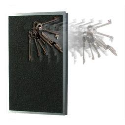 FO-7, Schlüsselbrett magnetisch extra-stark, Edelstahl mit Filzbezug, für 8 Schlüssel