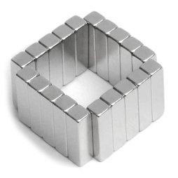 Q-15-04-04-MN, Parallelepipedo magnetico 15 x 4 x 4 mm, neodimio, 45M, nichelato