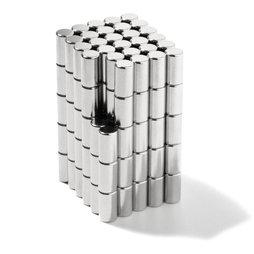 S-04-07-N, Stabmagnet Ø 4 mm, Höhe 7 mm, Neodym, N45, vernickelt
