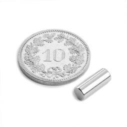 S-04-10-AN, Staafmagneet Ø 4 mm, hoogte 10 mm, neodymium, N45, vernikkeld