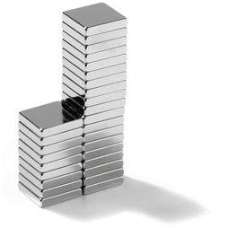 Q-10-10-02-N, Quadermagnet 10 x 10 x 2 mm, Neodym, N45, vernickelt