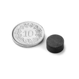 FE-S-10-05, Scheibenmagnet Ø 10 mm, Höhe 5 mm, Ferrit, Y35, unbeschichtet