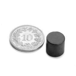FE-S-10-10, Schijfmagneet Ø 10 mm, hoogte 10 mm, ferriet, Y35, zonder coating