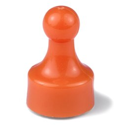 M-PIN/orange, Magnetpins 'Player', Pinnwand-Magnete in Form einer Spielfigur, 10er-Set, orange