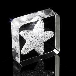 LIV-40, Diamond Star, Kühlschrankmagnet Stern, mit Swarovski-Kristallen