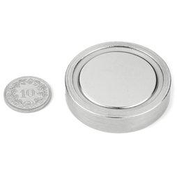 FGN-42, Glue-in pot magnet, Ø 42 mm
