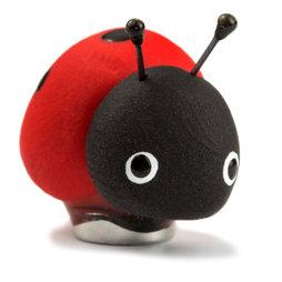 LIV-41/ladybug, Handmade magneten, Fimo unicaten in een set van 4, lieveheersbeestje