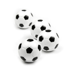 LIV-45, Footballeur, aimants décoratifs en forme de ballon de foot, lot de 4