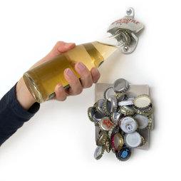 M-40, Wandflaschenöffner, mit magnetischem Kronkorken-Sammler, inkl. Montagezubehör