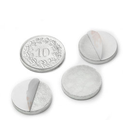 PAS-16, Metal disc self-adhesive Ø 16 mm, as a counterpart to magnets, not a magnet!