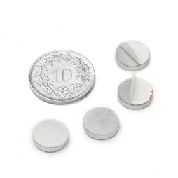PAS-10, Metal disc self-adhesive, Ø 10 mm, as a counterpart to magnets, not a magnet!