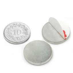 PAS-20, Metal disc self-adhesive Ø 20 mm, as a counterpart to magnets, not a magnet!