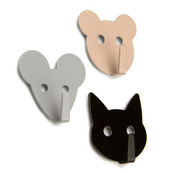 LIV-60, Magnetic hooks Animals, magnetic animal-shaped hooks, set of 3