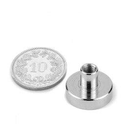 TCN-16, Topfmagnet mit Gewindebuchse, Ø 16 mm, Gewinde M4