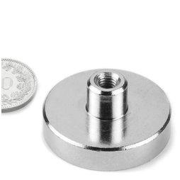 TCN-32, Aimant en pot avec manchon taraudé, Ø 32 mm, pas de vis M5
