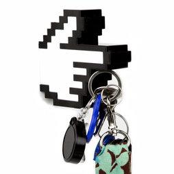 M-49, Schlüsselhalter magnetisch 8-Bit-Hand, mit magnetischem Zeigefinger, Rückseite magnetisch