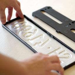 support magn tique pour plaque d 39 immatriculation interchangeable pour la suisse supermagnete. Black Bedroom Furniture Sets. Home Design Ideas