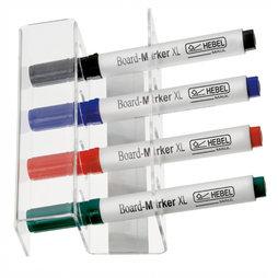 BA-009, Whiteboard-Stiftehalter magnetisch, für 4 Stifte, Stifte nicht im Lieferumfang enthalten