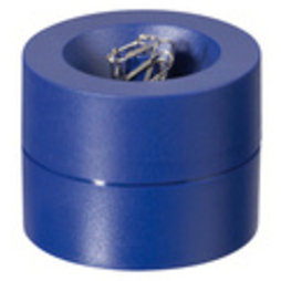 M-CLIP/blue, Büroklammerspender magnetisch, mit starkem Zentralmagnet, aus Kunststoff, blau