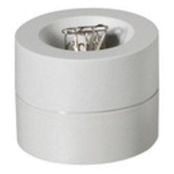 M-CLIP/grey, Büroklammerspender magnetisch, mit starkem Zentralmagnet, aus Kunststoff, grau