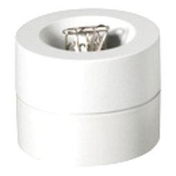 M-CLIP/white, Büroklammerspender magnetisch, mit starkem Zentralmagnet, aus Kunststoff, weiss