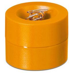M-CLIP/orange, Büroklammerspender magnetisch, mit starkem Zentralmagnet, aus Kunststoff, orange