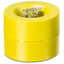 M-CLIP/yellow, Büroklammerspender magnetisch, mit starkem Zentralmagnet, aus Kunststoff, gelb