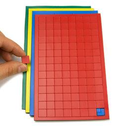 BA-012S, Symboles magnétiques carré petit, pour tableaux blancs & tableaux de planning, 112 symboles par feuille, dans différentes couleurs