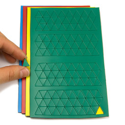 BA-012T, Magnet symbols Triangle small, for whiteboards & planning boards, 180 symbols per sheet, in different colours