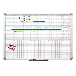 PB-9060, Tableau de planning 90 x 60 cm, magnétique, pour y écrire aux marqueurs pour tableau, différentes versions