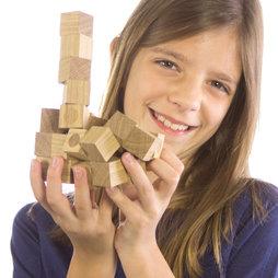 M-43, Set di cubi in legno, 27 cubi magnetici in legno, in legno di quercia oliato