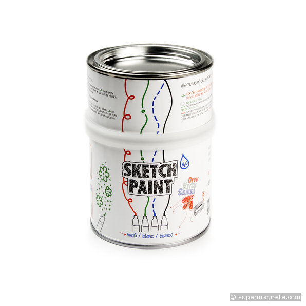 Pintura de pizarra blanca sketchpaint 0 5 litros - Pintura pizarra rotulador ...